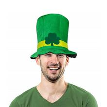Irish Style Velvet Top Hat Green Carnival Cap For St. Patrick's Day Party Celebration Lucky Charm Green Hat Costume Accessories