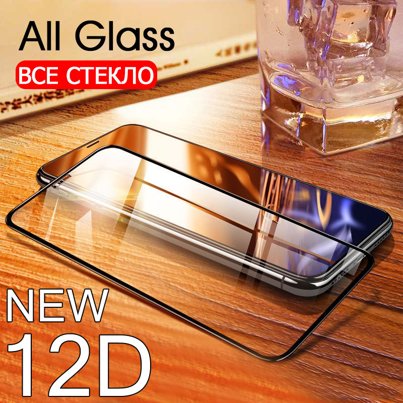 12D Full Coverag Tempered Glass For iphone 6 6S 7 8 plus screen protector protective glass On The For iphone 5 5S SE X XS Glass image