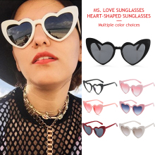 New Heart-Shaped Fashion Cat eye  Sunglasses Hollow Love Design Trend Of The Alloy Frame