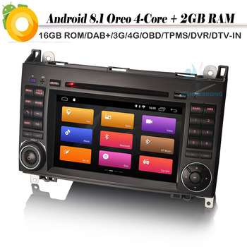DAB+ Android 8.1 Autoradio Sat Navi WiFi 4G DVR Car GPS Navigation Player for Mercedes Classe A/B W169 W245 Sprinter Viano Vito image