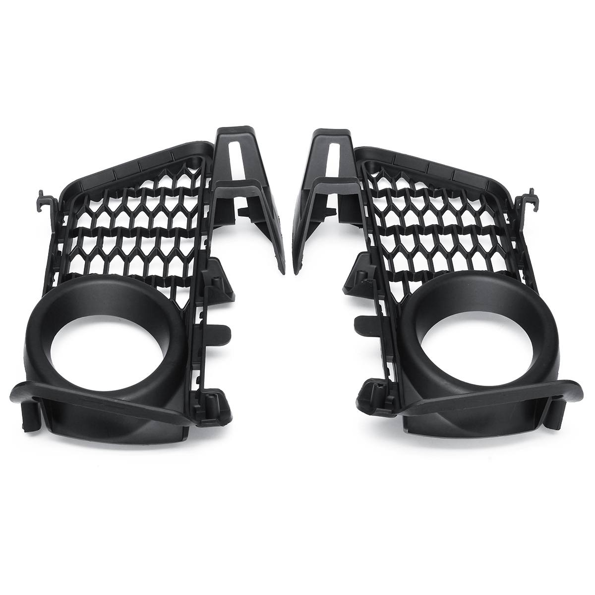 8054155 8054156 Pair Black Front Bumper Fog Light Grid Grilles For BMW 3 Series F30 F31 2011 2012 2013 2014 2015 противотуманки bmw e60