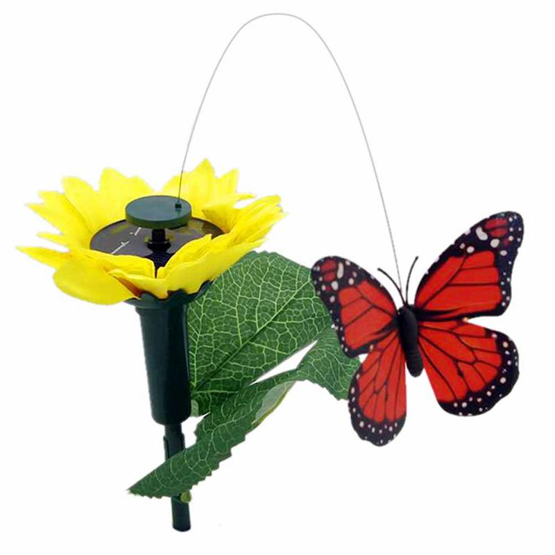 Solar Gardening Ornaments Vibrative Butterfly Hummingbirds Garden Decoration Home Accessories Flying Fluttering ButterfliesSolar Gardening Ornaments Vibrative Butterfly Hummingbirds Garden Decoration Home Accessories Flying Fluttering Butterflies