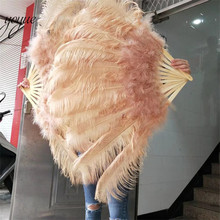 Новое поступление! Высокое качество Большой страусиный перо веер украшает Хэллоуин вечерние для танцоров живота DIY 12 веер из перьев баров