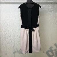 Высокое качество, платье без рукавов для женщин, осеннее платье до колена 2019, платье для офиса