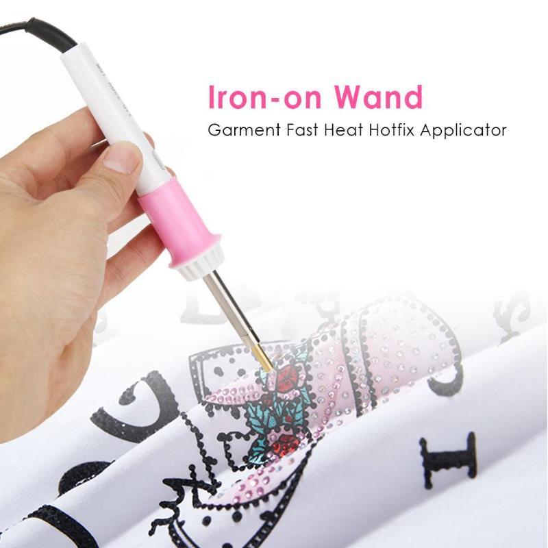 Fast Heated Hotfix Rhinestone Applicator Iron-on Wand Heat-fix Tool Gun Mixed Size Hot Fix Rhinestones Glass Diamond