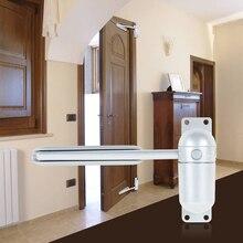 Регулируемый Дверной доводчик из нержавеющей стали, автоматическая дверная пружина, серебряный тон, прочность для двери дома, офиса, Противопожарные ворота