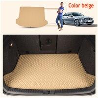 ZHAOYANHUA Custom fit High side car Trunk mats for Hyundai New beetle POLO SANTANA cross SANTANA NF Durable Boot Carpets