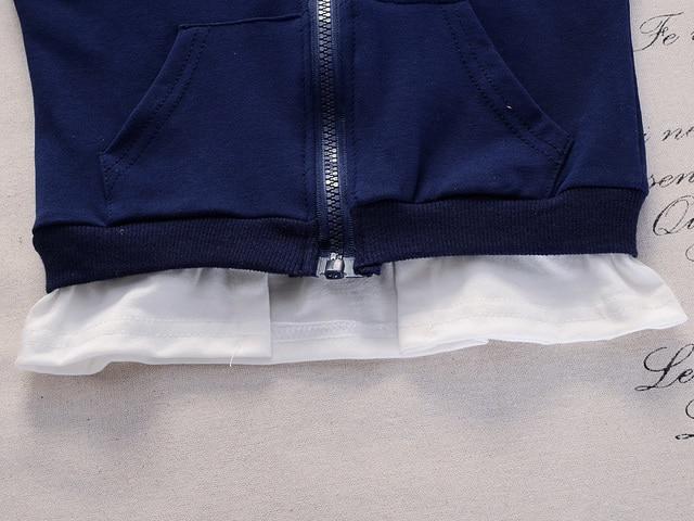2019 Spring Baby Casual Tracksuit Children Boy Girl Cotton Zipper Jacket Pants 2Pcs/Sets Kids Leisure Sport Suit Infant Clothing 5