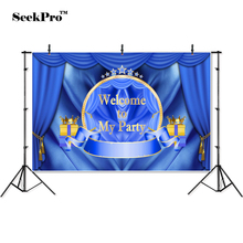 thin vinyl welcome to my party birthday children photo Backgrounds Printed Professional indoor Photographic studio Backdrops