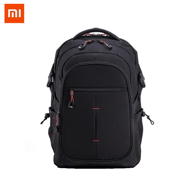 Xiaomi UREVO 25L Mochila Grandes homens de Capacidade Nível 4 15 polegada Laptop Saco Mochila Mochila de Viagem Ao Ar Livre À Prova D' Água Preta