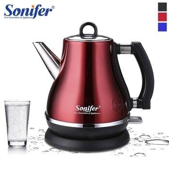 1.2L красочные 304 нержавеющая сталь Электрический чайник 1500 Вт бытовой 220 в быстрый нагрев Электрический чайник Sonifer
