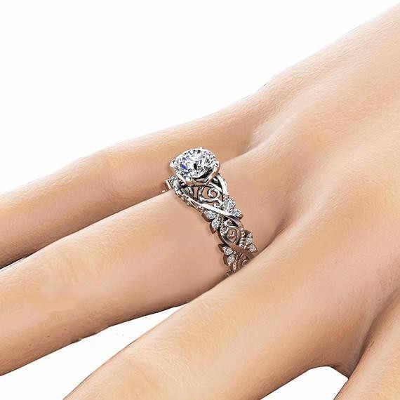 Полый цветок 14 K Золотое кольцо с бриллиантом Anillos De инкрустированные циркониевые кольца в виде листьев Bague Etoile ювелирные изделия Bizuteria женские и мужские кольца