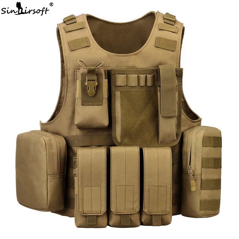 Tactical Professional Amphibious Vest Airsoft Tactical Military Gear Molle Combat Assault Plate Carrier Army Hunting Swat