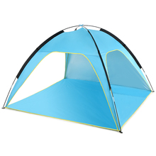 Outdoor Camping Lightweight Beach Tent Sun Shade Canopy UV Sun Shelter Travel Camping Fishing Tent with a carry bag naturehike nh15t003 m sun shade sail instant shelter canopy tent hexagon uv block sunwall for outdoor party garden beach travel