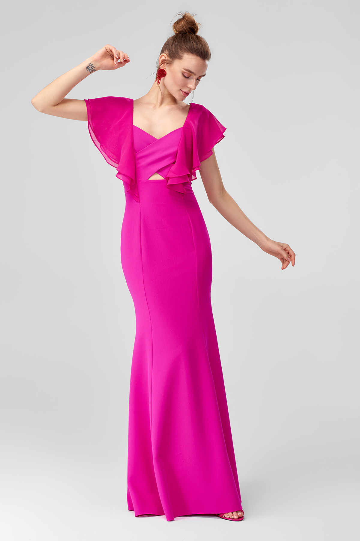 Detail Feedback Questions about Trendyol Flywheel Fuchsia Evening Dress  TPRSS18LJ0104 on Aliexpress.com  0208b4c03a4c