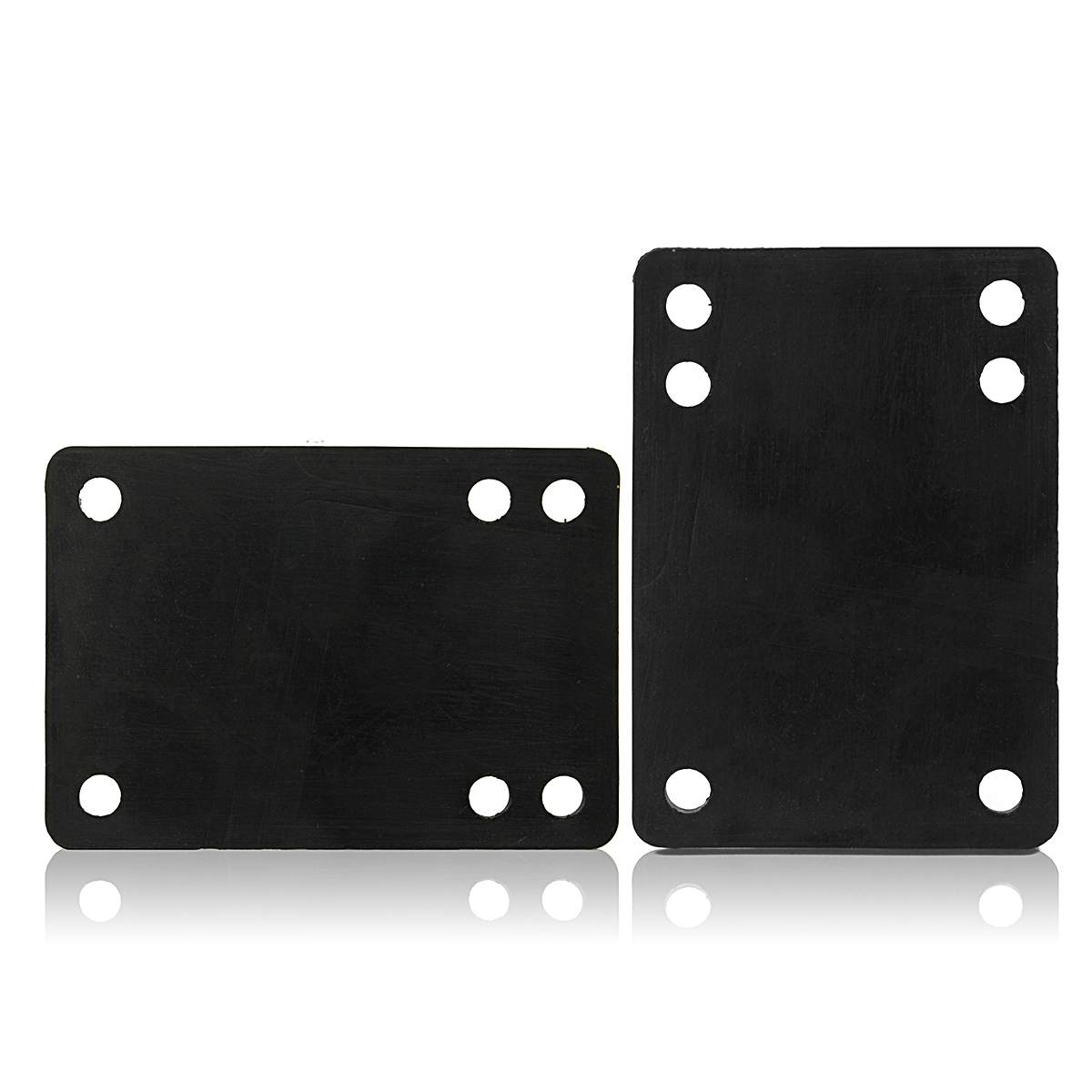 2PCS Soft Skateboard PU Riser Pads Longboard Cruiser Scooter Shock Proof Hardware Tools Set Skate Board Accessories Black