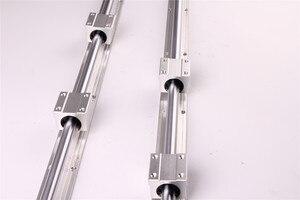 Image 4 - RU CN חינם 2Pcs SBR16 300 SBR16 400 SBR16 500 SBR16 1000 Mm רכבת ליניארי באופן מלא נתמך פיר מוט עם 4x SBR16UU בלוק
