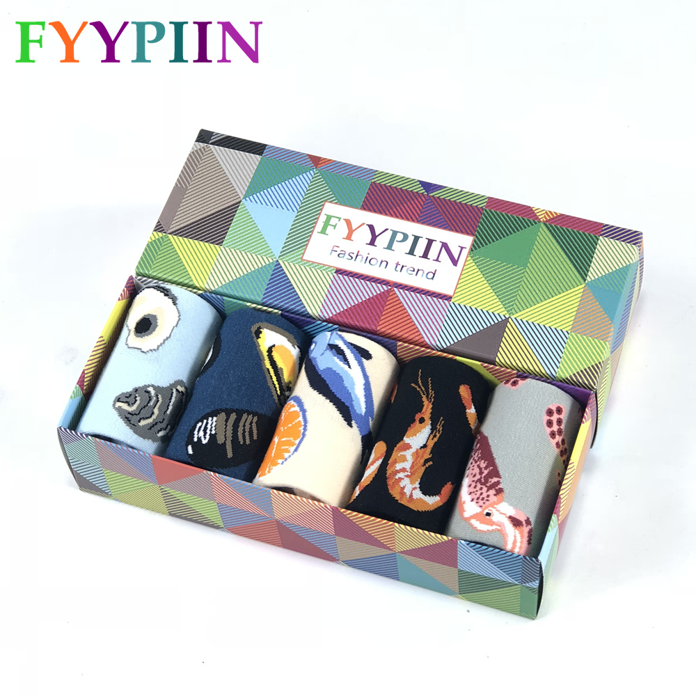 Men's Socks Gift Set Socks Funny Colorful Christmas Gifts Cotton Party Socks Men