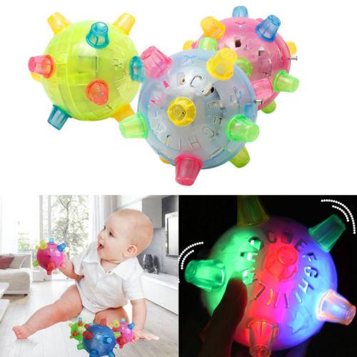LED Light Jumping Activation Ball Light Music Flashing Bouncing Vibrati Toy Luminous Toys