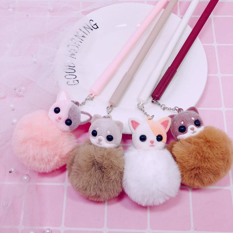 1Pc Cute Unicorn Flamingo Pens Kawaii Plush Pens Creative Ballpoint Pens For Kids Girls Gift School Writing Supplies Stationery