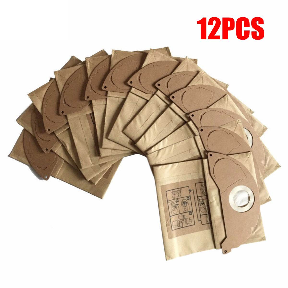 12Pcs/Set Vacuum Cleaner Bags For Karcher MV2 WD2.000-WD2.399 A2000-A2099 A2054 Vacuum Cleaner Home Appliance Parts Kit New