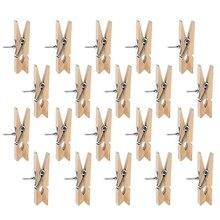 Broches con Clips de madera, broches de madera, broches de papel creativos con broches para tablones de corcho notas fotos pared y Cr