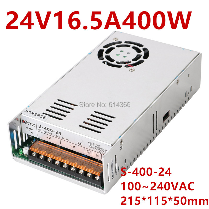 Best quality 24V 16.5A 400W Switching Power Supply Driver for CCTV camera LED Strip AC 100-240V Input to DC 24VBest quality 24V 16.5A 400W Switching Power Supply Driver for CCTV camera LED Strip AC 100-240V Input to DC 24V
