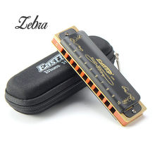 Easttop T008K 10 Hole Diatonic Blues Harmonica Armonicas Mouth Ogan Woodwind Musical Instrument Melodica(China)