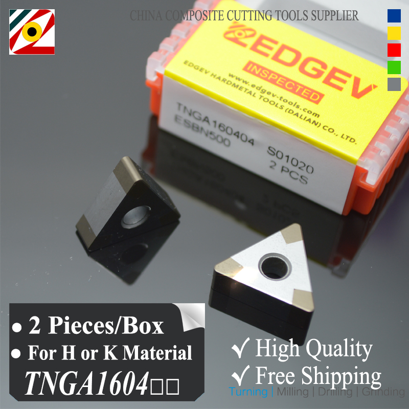 EDGEV 2 piezas de inserto de nitruro de boro CBN TNGA160404 TNMG160408 o TNGA331 Hoja para cortar acero endurecido o hierro fundido de fábrica
