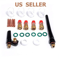 23pcs Professional Tig Welding Torch Gas Lens Kit with 4pcs # 10 Pyrex Cup For Tig WP 17/18/26 Torch