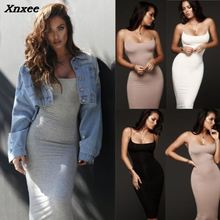 Xnxee Fashion Women Bodycon Slim Short Midi Dress Party Clubwear Pencil