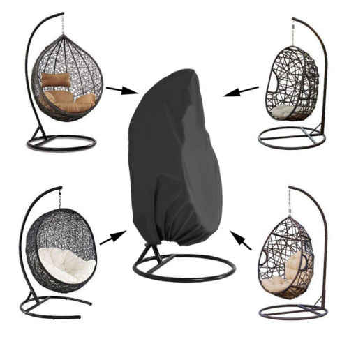 Excellent Outdoor Hanging Chair Cover Waterproof Silver Coated Polyester Oxford Cloth Wicker Egg Swing Chair Covers Heavy Duty Water Pdpeps Interior Chair Design Pdpepsorg