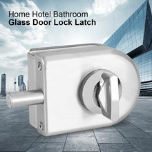 Stainless Steel Glass Door Lock Latch Rotary Knob Open/Close 10~12mm Glass Swing Push Sliding Door Lock w/ Keys Bathroom lockers(China)