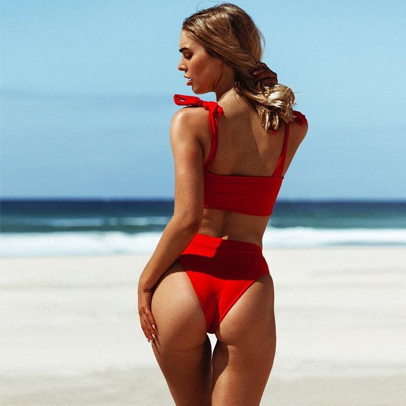 Red bikini swimwear
