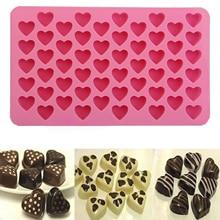 55 сердце силиконовая форма для льда «крем торт, шоколадное печенье пресс-формы для выпечки льда Форма для изготовления мыла лоток Лидер продаж украшения формы Кухня инструменты