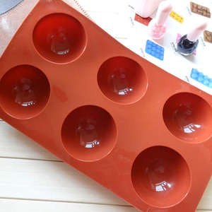 Image 3 - Hemisphere Shape Silicone 6/15/24 Holes Food Grade Baking Accessories Chocolate Candy Mold Bakeware Kitchen Gadgets