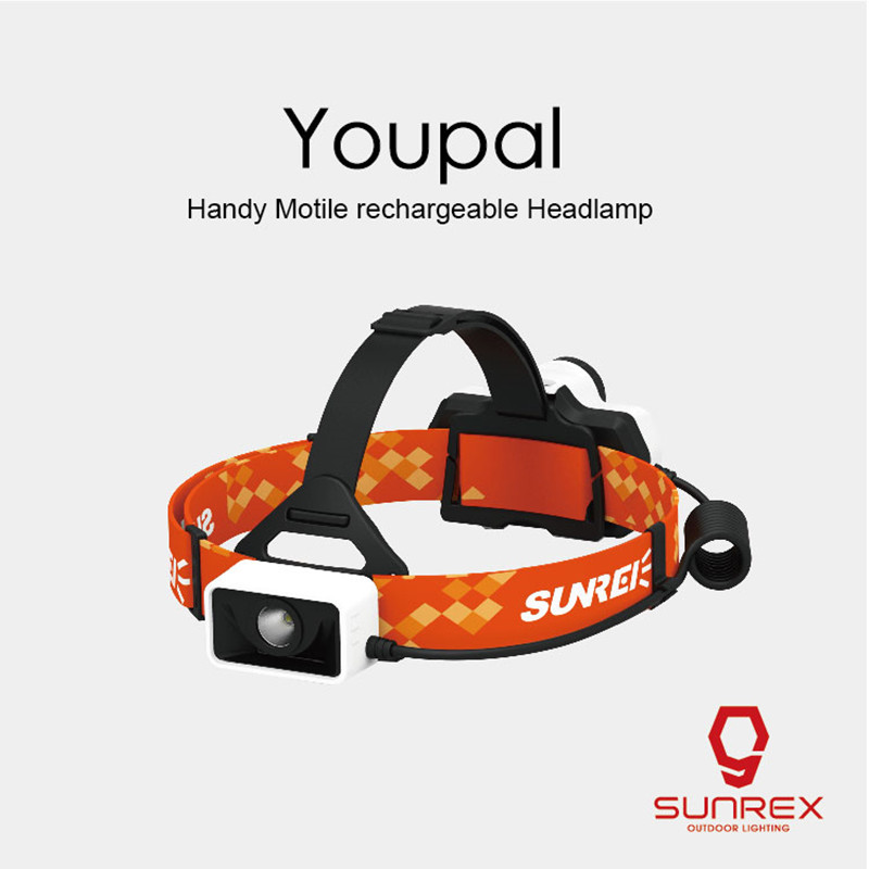 SUNREX Youpal Rechargeable Projecteur 550LM Continu Gradation Phare 18650 Batterie Indicateur IPX6 Étanche Vélo Projecteur