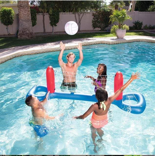 Inflatable Swimming Pool Toys Basketball Volleyball Handball Water Sports  Games Floating Beach Party Fun Accessories Adult Kids