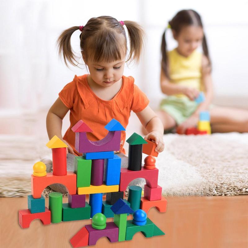 112pcs/Set Colorful Wooden Blocks Adult Kids Jigsaw Domino Games Sort Toys