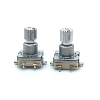 цена на 5pcs EC11 Rotary Encoder Switch With Push Button Switch 30 Position 5pin SMD Type Handle Length 12mm Plum Shaft