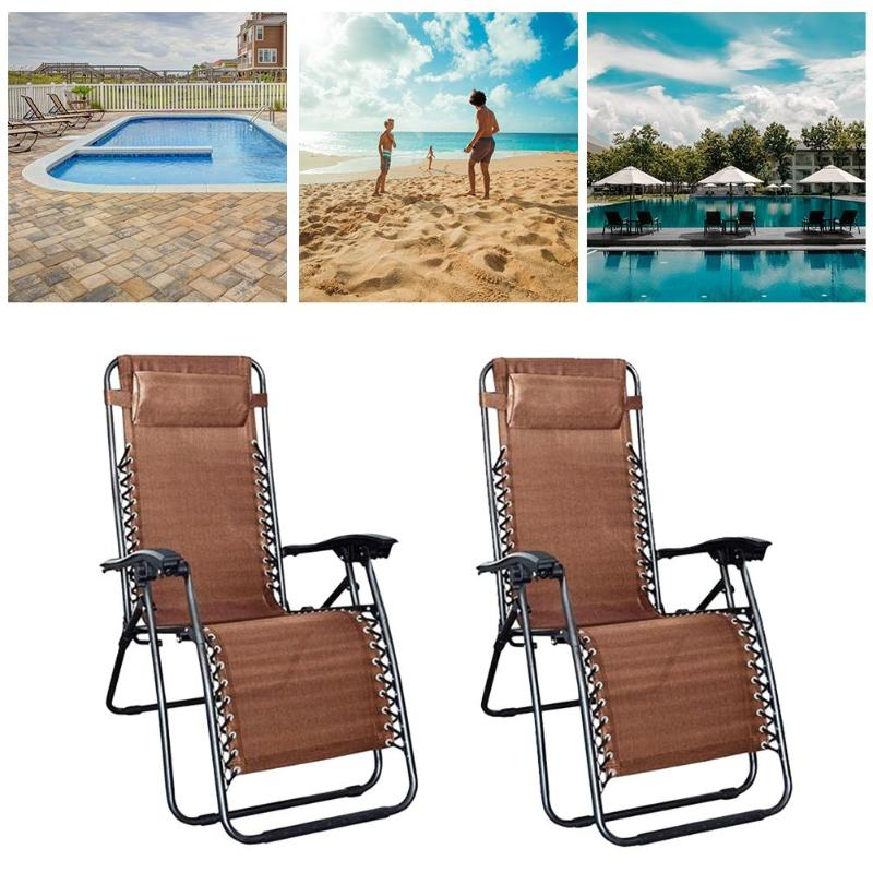 2pcs Plum Blossom Lock Portable Folding Chairs with Saucer Sun Bathing Backrest Chair Bed Home Garden Lounge Furniture Kit2pcs Plum Blossom Lock Portable Folding Chairs with Saucer Sun Bathing Backrest Chair Bed Home Garden Lounge Furniture Kit