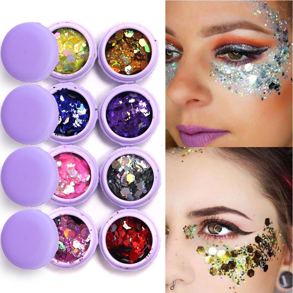 Beauty Essentials Eye Shadow 1 Bottle Mermaid Sequins Gel Glitter Eyeshadow Makeup Cosmetic Mixed Paillette For Face Body Hair Nshopping