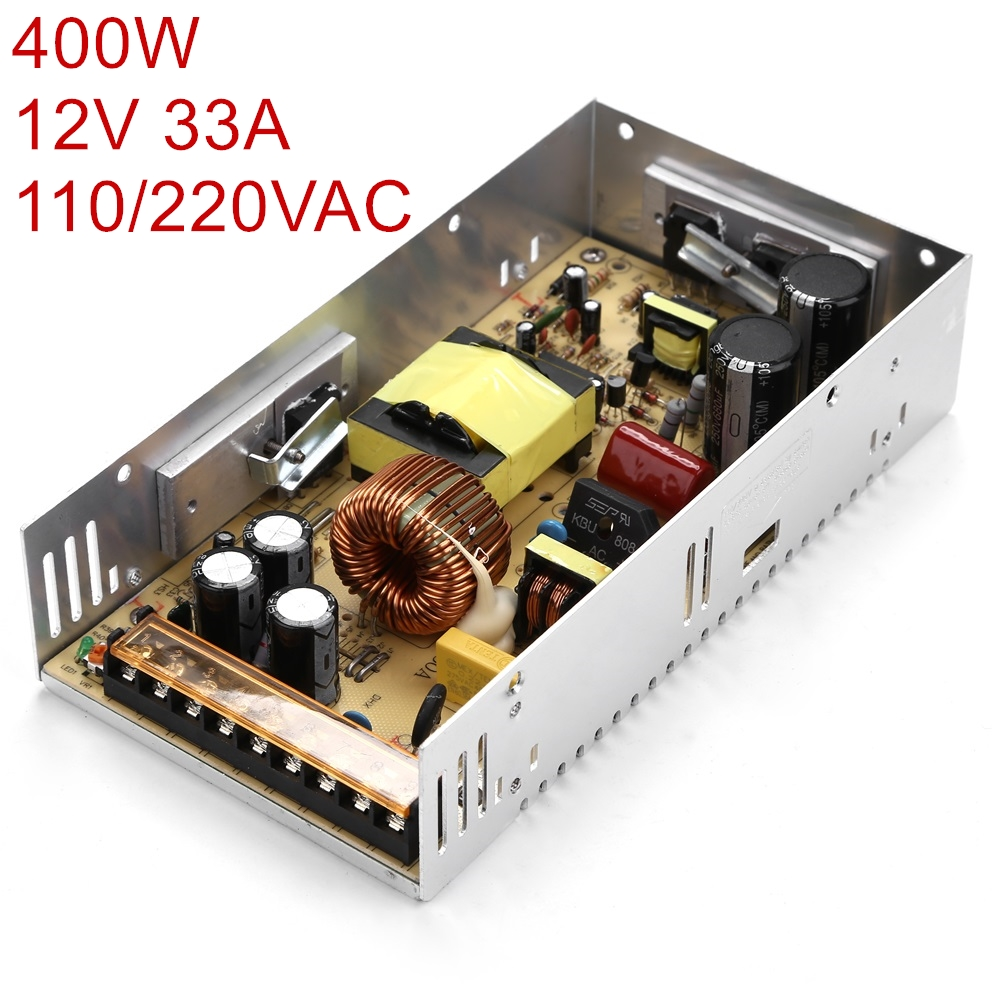 цена на Best quality 12V 33A 400W Switching Power Supply Driver for LED Strip AC 100-240V Input to DC 12V33A