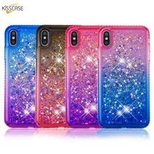 KISSCASE Gradient Quicksand Phone Case For iPhone 5 5S SE Soft TPU Cover For iPhone 6 6S 7 8 Plus X XS Max XR Funda Capinha Capa цена и фото