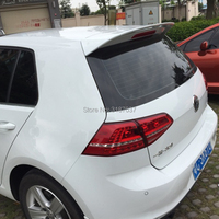For Volkswagen new Golf Spoiler 2014 2015 ABS Plastic Unpainted Color Rear Roof Spoiler Wing Trunk Lip Boot Cover Car Styling