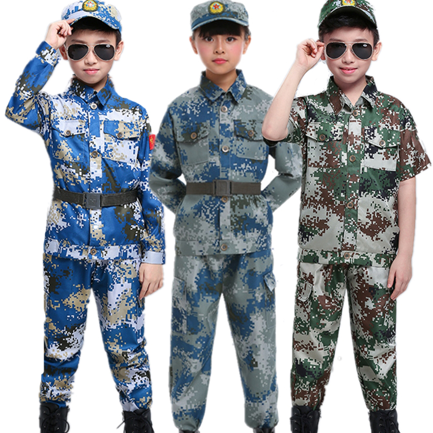 Combat Marine Army Camo Military Green Soldier Dress Up Halloween Child Costume