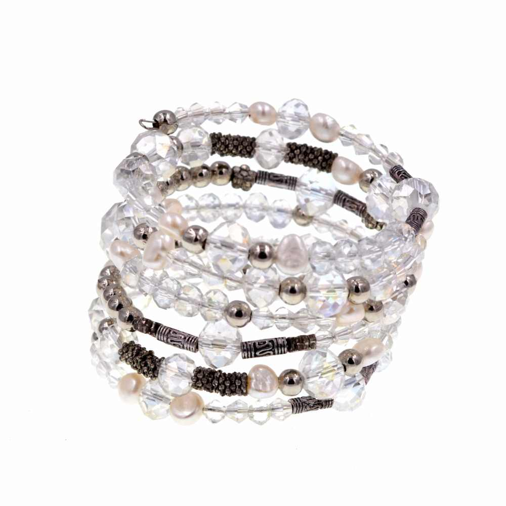 Multilayer Bohemian Beaded Bracelet Crystal pendant Charm Stretch Beach Bangle Bracelet Jewelry 7 Colors for Women