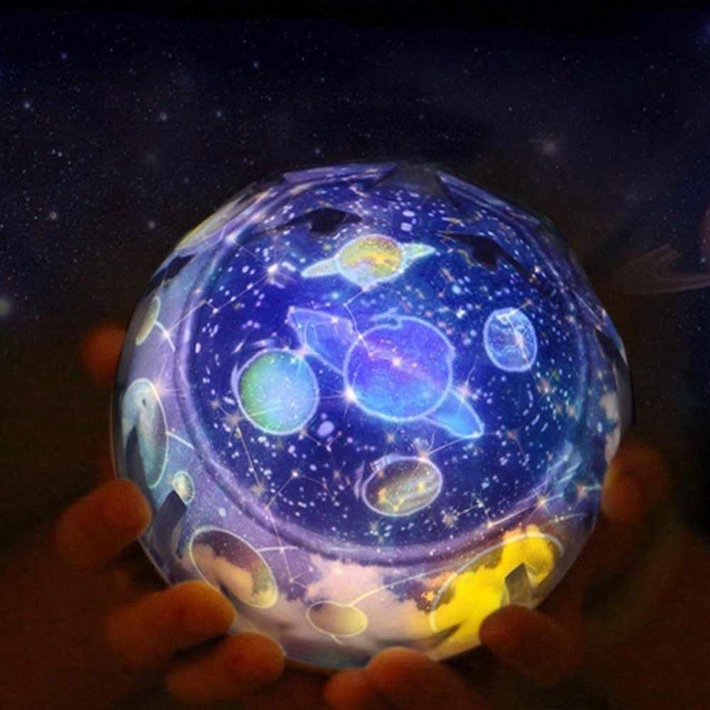 Светодиодный ночник звездное небо Волшебная Звезда Луна планетарный проектор лампа Космос Вселенная Luminaria детская подсветка для детской комнаты подарок на день рождения