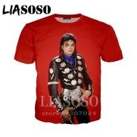 20d2f14148 Anime 3d Print T Shirt Homme Men Women T Shirt Harajuku Hip Hop Funny Michael  Jackson