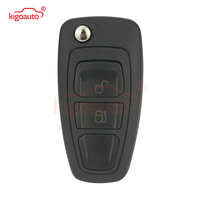Kigoauto 5WK50165 Flip key 2 button 434mhz FSK 4D63 chip HU101 for Ford Ranger 2011 2012 2013 2014 2015